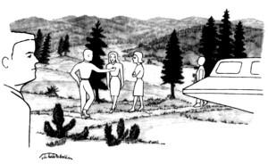 10, Sheradon cabin, north, familiar strangers