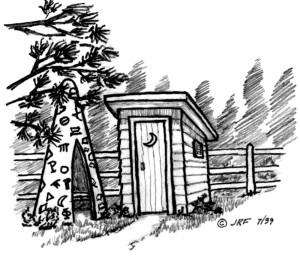 10, Sheridan Ck cabin, outdoor toilet and tee pee