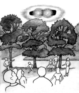 2, Beth Grd Sch plygd, object hovering over trees, SE